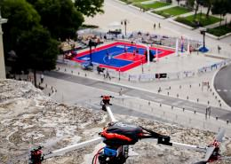 DroneContrast à l'open de France de basket 3x3